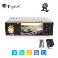 Topbox 12 В Авторадио 4019B 1 Din автомагнитола аудио стерео радиостанции Bluetooth MP3 плеер заднего вида Камера удаленного Управление купить на AliExpress