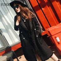 5667.4 руб. 41% СКИДКА|Черная/белая твидовая куртка 2019 Женская Куртка двухцветная жемчужная пряжка с бахромой сбоку маленький аромат в длинном пальто-in Базовые куртки для женщин from Женская одежда on Aliexpress.com | Alibaba Group