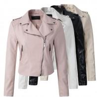 1366.7 руб. 45% СКИДКА|Брендовая мотоциклетная куртка из искусственной кожи женская зимняя и осенняя Новая модная куртка 4 цвета на молнии Верхняя одежда куртка новая 2019 пальто Горячая купить на AliExpress