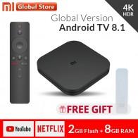 3756.07 руб. 32% СКИДКА|Оригинальный Глобальный Xiaomi Mi tv Box S 4 K HDR Android 8,1 Ultra HD 2G 8G wifi Google Cast Netflix IP tv Set top Box 4 медиаплеер-in ТВ-приставки from Бытовая электроника on Aliexpress.com | Alibaba Group
