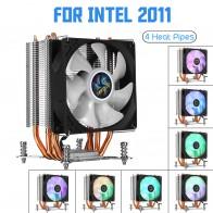 1156.76 руб. 41% СКИДКА|4 медная тепловая трубка кулер для процессора Для Aurora легкий охлаждающий вентилятор 90 мм с RGB для Intel LGA 2011 кулер радиатора-in Вентиляторы и охлаждение from Компьютер и офис on Aliexpress.com | Alibaba Group