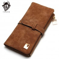 US $6.95 40% OFF|2019 New Fashion Women Wallets Drawstring Nubuck Leather Zipper Wallet Women