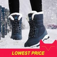 1201.5 руб. 54% СКИДКА|Женские ботинки на нескользящей подошве, непромокаемые зимние ботильоны, женская зимняя обувь на платформе с толстым мехом, botas mujer купить на AliExpress