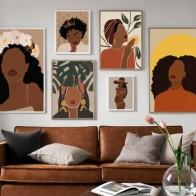 Настенная живопись на холсте, абстрактная черная девушка, модная иллюстрация, скандинавские постеры и принты, настенные картины для декора ... - Красивые постеры в ваш дом