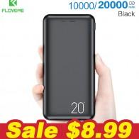 561.74руб. 43% СКИДКА|FLOVEME 10000/20000 мАч, Дополнительный внешний аккумулятор для Xiaomi Mi 9, внешний аккумулятор, зарядное устройство с двумя портами Usb, внешний аккумулятор, портативный аккумулятор-in Зарядные устройства from Мобильные телефоны и телекоммуникации on AliExpress - 11.11_Double 11_Singles