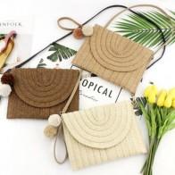 Женская Плетеная соломенная сумка из ротанга для девочек, квадратная сумка, Пляжная летняя сумка через плечо, Boho