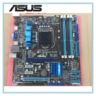 4929.32 руб. 12% СКИДКА|ASUS P7H55 M Оригинал материнская плата DDR3 LGA 1156 Поддержка I3 I5 ЦП 16 ГБ USB2.0 VGA HDMI H55 uATX Desktop motherborad купить на AliExpress