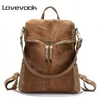 2053.44 руб. 57% СКИДКА|LOVEVOOK женский рюкзак кожаный большого объёма высокого качества сумка женская через плечо для женщин из кожи  PU рюкзак школьный для девочек подростков дамские рюкзаки для школы 2018 купить на AliExpress
