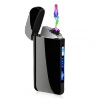 KCASA LED Double Arc Lighter Electronic Rechargeable Windproof USB Lighters Gadget Tool For Men Gifts