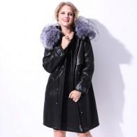 7382.06 руб. |Натуральный мех с капюшоном натуральная кожа куртка Женская длинная из натуральной овчины зимнее теплое пальто для дам одежда верхняя одежда большой размер 5XL купить на AliExpress