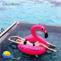 Розовый надувной спасательный круг для ванной, игрушка фламинго для воды, бассейн, плоты, 2 размера для детей и взрослых, инструмент для обуч... - Пляжные круги, матрасы для плавания