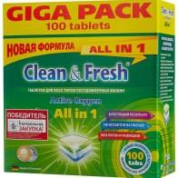 Купить Clean & Fresh All in 1 таблетки для посудомоечной машины 100 шт. по низкой цене с доставкой из маркетплейса Беру