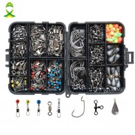 US $13.6 40% OFF|JSM 160pcs/box Fishing Accessories Kit Including Jig Hooks fishing Sinker weights fishing Swivels Snaps with fishing tackle box-in Fishing Tackle Boxes from Sports & Entertainment on Aliexpress.com | Alibaba Group