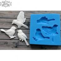 Силиконовая форма для украшения торта Yueyue Sugarcraft Birds, форма для шоколадной мастики