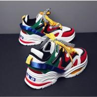 1437.29 руб. 42% СКИДКА|Размеры 35 44; женские модные повседневные кроссовки на толстой подошве со шнуровкой на платформе; высококачественные кроссовки для влюбленных; LH 18-in Женская обувь без каблука from Туфли on Aliexpress.com | Alibaba Group
