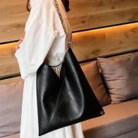 307.73руб. 44% СКИДКА|Женская Ретро цепь черная простая сумка через плечо кожаные сумочки, сумки через плечо женские брендовые вместительные сумки для путешествий mujer-in Сумки с ручками from Багаж и сумки on AliExpress - 11.11_Double 11_Singles