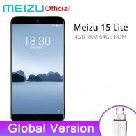 9742.54 руб. |Глобальная версия Meizu 15 Lite M15 4 Гб 64 Гб мобильный телефон Snapdragon 626 Octa Core 5,46