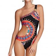 574.79 руб. 32% СКИДКА|Цельный купальник с вырезами на одно плечо, монокини, женский купальный костюм, купальный костюм, пляжная одежда-in Комбинезоны from Спорт и развлечения on Aliexpress.com | Alibaba Group