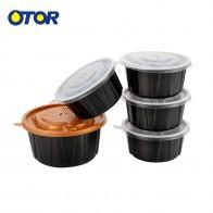 2452.74 руб. |OTOR 12 унц. Черный одноразовые чаша салатник с крышкой взять еда контейнер для быстрого еда пикник может быть Microwaveable 80 шт. купить на AliExpress