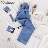 947.51 руб. 40% СКИДКА|Hirsionsan джинсы с высокой талией для женщин 2019 Осенние повседневные джинсовые брюки на шнурке винтажные синие джинсы длиной до щиколотки женские-in Джинсы from Женская одежда on Aliexpress.com | Alibaba Group