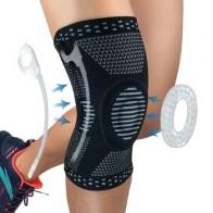 Профессиональный мениска артрит Спорт наколенник для коленной чашечки компрессионный чехол эластичные сапоги до колена обертывания с гел...