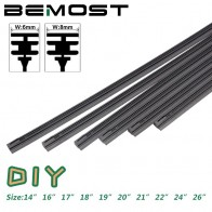 US $1.96 18% OFF|BEMOST Car Windshield Wiper blade Insert soft Natural Rubber Strip strips (Refill) 8mm 6mm Soft 14