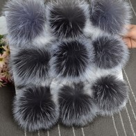 US $21.87 30% OFF|5pcs/ lot DIY 13cm Silver fox fur 15 16cm Raccoon Fur pompoms for knitted hat cap beanies and keychain and scarves real fur ball-in Women