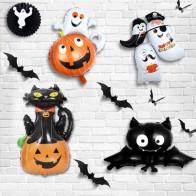 4шт Хэллоуин мультипликационный воздушный шар - Декор для Хэллоуина