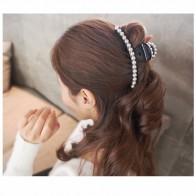 173.11 руб. 20% СКИДКА|Элегантный большой искусственный аксессуары для волос из жемчуга Симпатичные пластмассовые заколки красивые челюсти, когти длинные Заколки для волос для Для женщин HC446 купить на AliExpress