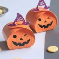 Упаковочная коробка в форме тыквы Хэллоуина 10шт