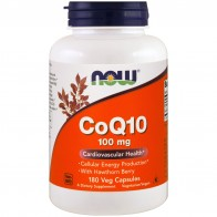 Now Foods, CoQ10 with Hawthorn Berry, 100 mg, 180 Veggie Capsules
