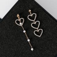 € 1.7 35% de DESCUENTO|Nuevo encanto coreano perla borla cristal amor corazón pendientes para mujeres moda asimétrica gota pendiente joyería de lujo-in Pendientes de gotas from Joyería y accesorios on Aliexpress.com | Alibaba Group