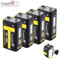 1925.79 руб. 8% СКИДКА|4 шт./партия TrustFire 9 в 550 мАч литий ионная аккумуляторная батарея с зарядным током 3A для мультиметра/беспроводного микрофона/сигнализации-in Подзаряжаемые батареи from Бытовая электроника on Aliexpress.com | Alibaba Group