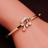US $1.36 25% OFF|Free shipping Austrian Crystal  Rose Gold Color Women Bangles Romantic  Valentine