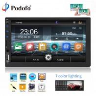 2599.28 руб. 30% СКИДКА|Podofo 2 Din Автомобильный мультимедийный плеер WIFI Bluetooth USB Радио стерео 2 din 7