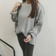 1286.24 руб. 20% СКИДКА|Missting осень негабаритных свитер с длинными рукавами и круглым вырезом свободные однотонные женские свитера и пуловеры (A5107)-in Пуловеры from Женская одежда on Aliexpress.com | Alibaba Group
