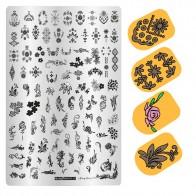 243.91 руб. 17% СКИДКА|Штамповочные пластины для принта ногтей штамповка шаблон 9,5*14,5 см цветок геометрические трафареты для ногтей для маникюра печать ногтей-in Шаблоны для дизайна ногтей from Красота и здоровье on Aliexpress.com | Alibaba Group