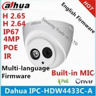 3320.58 руб. |Dahua IPC HDW4433C A 4MP Starlight камера Встроенный микрофон IR 50 м Сетевая ip камера Поддержка POE Замена IPC HDW4431C A камера видеонаблюдения купить на AliExpress