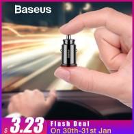 223.26 руб. 45% СКИДКА|Baseus Mini USB Автомобильное зарядное устройство для мобильного телефона планшет gps 3.1A быстрое зарядное устройство автомобильное зарядное устройство Dual USB Автомобильное зарядное устройство адаптер в автомобиле купить на AliExpress