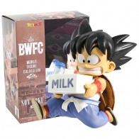 لعبة دراغون بول Z غوكو الطفولة الحليب BWFC2 العمل PVC الشكل أنيمي لعبة دراغون بول سوبر DBZ غوكو الطفل تمثال اللعب