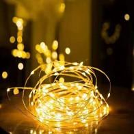 28.26руб. 39% СКИДКА|1/2/5/10 M Медный провод светодиодные огни строки праздник освещение гирляндой Рождественский венок для Новый год свадебная вечеринка украшения-in LED-гирлянды from Лампы и освещение on AliExpress - 11.11_Double 11_Singles