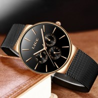 LIGE Fashion Mens Watches Male Top Brand Luxury Waterproof Sport Watch Mens Ultra Thin Mesh Steel Quartz Clock Relogio Masculino-in Quartz Watches from Watches on AliExpress