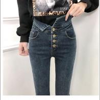 1256.66 руб. 50% СКИДКА|JUJULAND 2018 новый тонкий стрейч Высокая талия обтягивающие джинсы женский царапинам носить средства ухода за кожей стоп Винтаж Цвет: черный, сини-in Джинсы from Женская одежда on Aliexpress.com | Alibaba Group