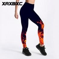 601.81 руб. 8% СКИДКА|C3497 девушка новый горящий огонь пламя черные принты эластичный тонкий тренажерный зал фитнес для женщин Спортивная Леггинсы для йоги брюки плюс размер-in Штаны для йоги from Спорт и развлечения on Aliexpress.com | Alibaba Group
