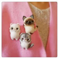 US $8.66 |Cat Brooch Pokedals Le Materials Kits DIY Wool Felt Nonwovens Creative Adult Couple Handmade Dolls-in DIY Package from Home & Garden on Aliexpress.com | Alibaba Group