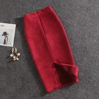 389.22 руб. 30% СКИДКА|Для женщин юбки для замшевые разделение толстые юбка стрейч женский карандаш плюс размеры Faldas Mujer-in Юбки from Женская одежда on Aliexpress.com | Alibaba Group