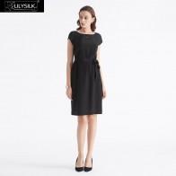 5230.59 руб. 20% СКИДКА|LilySilk платье маленькое черное шелковое базовое носимое спереди и сзади женское Бесплатная доставка-in Платья from Женская одежда on Aliexpress.com | Alibaba Group