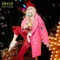 4277.85 руб. 50% СКИДКА|Женсоке зимнее пальто ELF SACK, розовые, синие, бежевые, женские зимние пальто с вышивкой с отложным воротником, 55% шерсти, для зимы, 2019-in Шерсть и сочетания from Женская одежда on Aliexpress.com | Alibaba Group