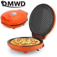 DMWD многофункциональная двухсторонняя электрическая машина для приготовления Блинов для пиццы, электрический гриль, сковорода, антипригар... - Вафельница-гриль