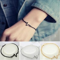 US $0.22 44% OFF|2018 New Arrivals Korean Fashion Hot Simple Waves ECG Heart Rate Lightning Bracelets For Women & Men Jewelry Summer Style Beach-in Charm Bracelets from Jewelry & Accessories on Aliexpress.com | Alibaba Group